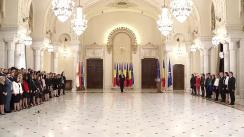 Primirea de către Președintele României, Klaus Iohannis a magistraților absolvenți ai Institutului Național al Magistraturii