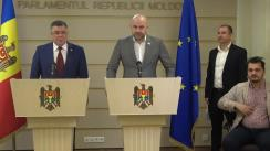 """Conferință susținută de deputații Blocului """"ACUM Platforma DA și PAS"""", Iurie Reniță și Vladimir Bolea, cu tema """"Măsurile legislative ce se impun pentru redresarea situației în domeniul construcțiilor ilegale din capitală"""""""