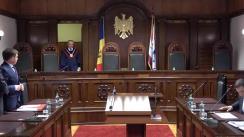 Ședința Curții Constituționale privind interpretarea articolelor 38, 60, 61 și 72 din Constituție
