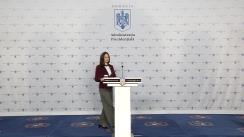 Declarația de presă susținută de Purtătorul de cuvânt al Președintelui României, Mădălina Dobrovolschi