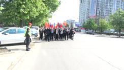 Marșul organizat de Partidul Socialiștilor din Republica Moldova dedicat Zilei Internaționale a Solidarității Muncitorilor