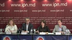 """Conferința de presă organizată de Centrul pentru Jurnalism Independent și organizațiile de media partenere cu tema """"Lansarea Memoriului privind libertatea presei în Republica Moldova, mai 2018-mai 2019"""""""