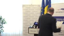 Conferința de presă susținută de Ambasadorul României în Republica Moldova, Daniel Ioniță, dedicată organizării alegerilor europarlamentare din România, din data de 26 mai 2019