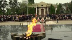 Ceremonia consacrată Zilei Victoriei și comemorării eroilor căzuți pentru independența Patriei