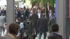 Conferință de presă susținută de Președintele României, Klaus Iohannis, cu Președintele Consiliului European, Donald Tusk, și cu Președintele Comisiei Europene, Jean-Claude Juncker