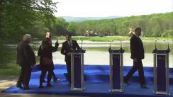 Declarații de presă susținute de Președintele României, Klaus Iohannis, Președintele PPE, Joseph Daul, Președintele Grupului PPE din Parlamentul European, Manfred Weber, Președintele Partidului Național Liberal, Ludovic Orban