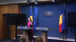 Conferință de presă susținută de Ministrul Sănătății al României, Sorina Pintea