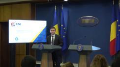 Conferință de presă susținută de vicepremierul României, Vasile-Daniel Suciu, ministrul dezvoltării regionale și administrației publice