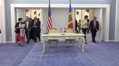 Semnarea Memorandumului de principii și proceduri între Republica Moldova și statul Carolina de Nord, SUA, cu privire la consolidarea relațiilor bilaterale