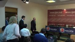 """Conferința de presă organizată de Traian Băsescu, împreună cu deputatul Eugen Tomac, președintele PMP, cu tema """"Obiectivele Partidului Mișcarea Populară în Parlamentul European și planul detaliat al acțiunilor europarlamentarilor PMP în ceea ce privește relația cu Republica Moldova"""""""
