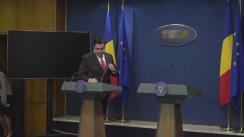 Conferință de presă susținută de ministrul Transporturilor al României, Răzvan Cuc