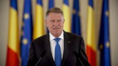 Declarație de presă susținută de Președintele României, Klaus Iohannis, după închiderea secțiilor de votare