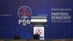 Briefing de presă organizat de Partidul Democrat din Moldova după ședința Biroului permanent al PDM
