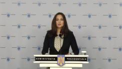 Declarație de presă susținută de Purtătorul de cuvânt al Președintelui României