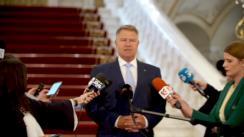 Declarații de presă susținute de Președintele României, Klaus Iohannis, înaintea consultărilor cu partidele și formațiunile politice reprezentate în Parlamentul României