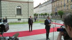 Declarație de presă susținută de Președintele României, Klaus Iohannis, înainte de participarea la Summitul al Inițiativei celor Trei Mări