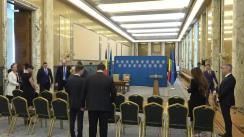 Ceremonia de semnare a Memorandumului de înțelegere între România și Israel în domeniul securității cibernetice