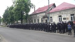 Protest organizat de susținătorii Partidului Democrat din Moldova