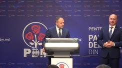 Briefing susținut de conducerea Partidului Democrat din Moldova după decizia Consiliului Republican al PSRM