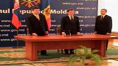 Ceremonia de semnare a  Acordului de Cooperare între Guvernul Republicii Moldova și Guvernul Republicii Slovace