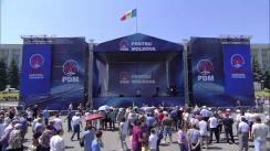 Miting organizat de Partidul Democrat din Moldova