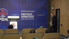 Conferință de presă organizată de Partidul Democrat din Moldova