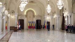 Ceremonia de depunere a jurământului de învestitură în funcția de judecător al Curții Constituționale a doamnei Elena-Simina Tănăsescu