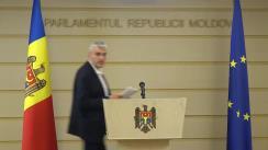 Declarații de presă după prima ședință a Comisiei de anchetă pentru elucidarea tuturor circumstanțelor devalizării sistemului bancar din Republica Moldova și investigării fraudei bancare
