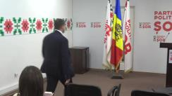 """Briefing susținut de Președintele Partidul Politic """"ȘOR"""", Ilan Șor"""