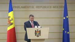 Conferință de presă susținută de Ministrul Economiei și Infrastructurii, Vadim Brânzan