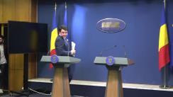 Conferință de presă susținută de ministrul Culturii și Identității Naționale al României, Daniel Breaz