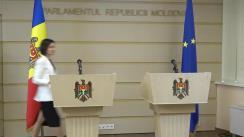 Briefing susținut de Prim-ministrul Republicii Moldova, Maia Sandu, și Ministrul de Interne, Andrei Năstase