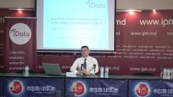 """Conferința de presă organizată de Date Inteligente SRL (iData) cu tema """"Rezultatele sondajului: opinia cetățenilor despre criza politică"""""""