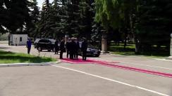 Președintele Republicii Moldova, Comandant Suprem al Forțelor Armate, Igor Dodon, îl prezintă corpului de comandă al Armatei Naționale pe noul ministru al Apărării, Pavel Voicu