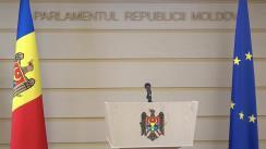 Briefing susținut de președintele fracțiunii PDM, Pavel Filip