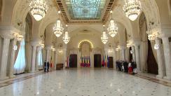 Ceremonia de depunere a jurământului de învestitură în funcția de judecător al Curții Constituționale a domnilor Cristian Deliorga și Gheorghe Stan
