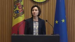 Declarațiile Prim-ministrului Republicii Moldova, Maia Sandu după ședința Guvernului Republicii Moldova din 20 iunie 2019