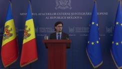 Briefing de presă susținut de Ministrul Afacerilor Externe și Integrării Europene al Republicii Moldova, Nicu Popescu, privind rezultatele vizitei de lucru în Statele Unite ale Americii (17-19 iunie 2019)