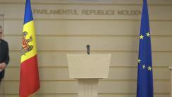 Declarații de presă a Președintelui Comisiei de anchetă pentru elucidarea tuturor circumstanțelor devalizării sistemului bancar din Republica Moldova și investigării fraudei bancare, Alexandru Slusari