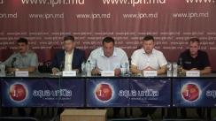 """Conferința de presă cu tema """"Cerem justiție de la organele de drept ale Republicii Moldova în privința operațiunii de transmitere a noastră altei țări, desfășurată sub conducerea șefului de atunci al Poliției de Frontieră, Dorin Purice, actualmente viceministru de interne"""""""