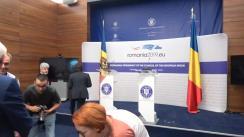 Conferință de presă susținută de ministrul afacerilor externe al României, Teodor Meleșcanu, și ministrul afacerilor externe și integrării europene al Republicii Moldova, Nicu Popescu