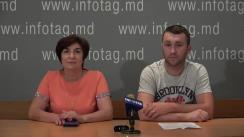 """Conferință de presă organizată de cetățeanul Republicii Moldova, Andrei Gortolomei, cu tema """"Neglijența medicală la nașterea unui copil"""""""