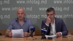 """Conferință de presă susținută de Avocații Eduard Rudenco și Valeriu Pleșca cu tema """"Plângerea privind încălcarea drepturilor omului în dosarul lui Veaceslav Platon a fost depusă la CEDO. A început urmărirea penală referitor la extrădarea lui Platon în Moldova"""""""
