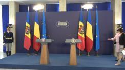 Declarații de presă susținute de prim-ministrul României, Viorica Dăncilă, și prim-ministrul Republicii Moldova, Maia Sandu