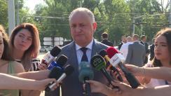 Declarația Președintelui Republicii Moldova, Igor Dodon, după depuneri de flori la Monumentul lui Ștefan cel Mare și Sfânt