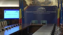 Prezentarea bilanțului mandatului României la Președinția Consiliului Uniunii Europene, împreună cu George Ciamba, ministrul delegat pentru Afaceri Europene