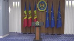 Conferință de presă susținută de Prim-ministrul Republicii Moldova, Maia Sandu, privind subiectele abordate în cadrul ședinței Comisiei pentru Situații Excepționale
