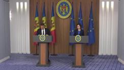 Conferință de presă susținută de Prim-ministrul Republicii Moldova, Maia Sandu, și reprezentanții Fondului Monetar Internațional
