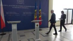 Conferință de presă susținută de ministrul afacerilor externe și integrării europene al Republicii Moldova, Nicu Popescu și ministrul afacerilor externe al Republicii Polone, Jacek Czaputowicz