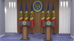 Conferință de presă susținută de Prim-ministrul Republicii Moldova, Maia Sandu, și Subsecretarul de Stat al Statelor Unite ale Americii, David Hale